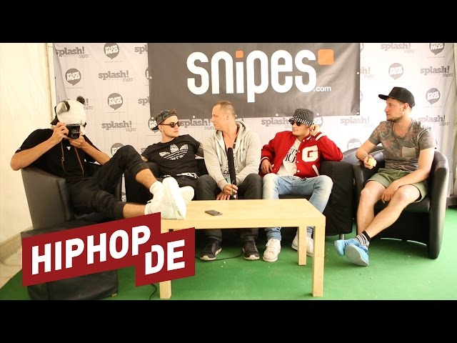 Cro, DaJuan, Teesy & Psaiko.Dino auf dem Splash (Interview) (Splash! 17)