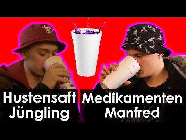 Codein trinken mit Hustensaft Jüngling und Medikamenten Manfred - Interview