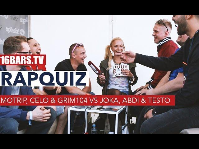 Rapquiz: MoTrip, Celo & Grim104 vs JokA, Abdi & Testo (16BARS.TV)