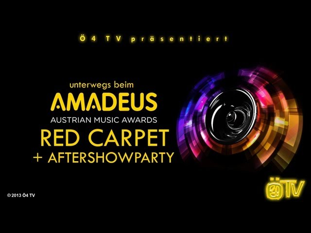 Ö4 TV bei den Amadeus Austrian Music Awards 2013 in Wien