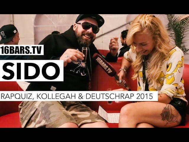 sido über das Rapquiz, Kollegah & Deutschrap 2015 (16BARS.TV)
