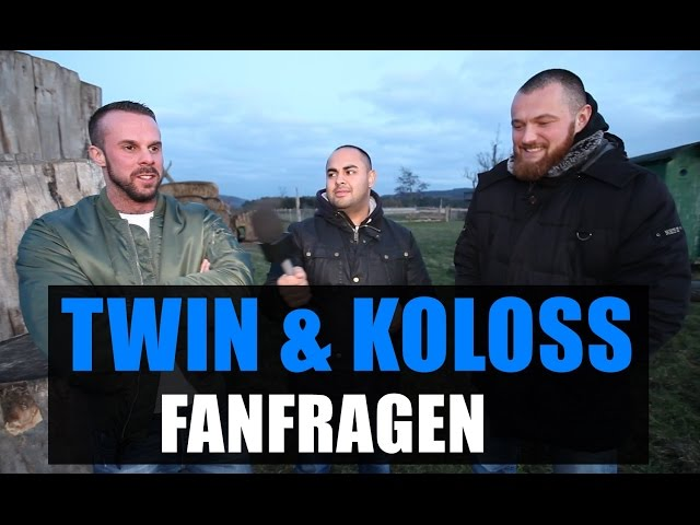 TWIN & KOLOSS Fan Fragen: Toony, Größe, SadiQ, Harley, Omik K, Fler, 187ers, Vega, Kool Savas, Rap