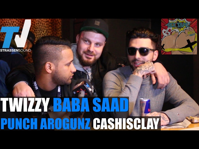 TWIZZY, BABA SAAD, PUNCH AROGUNZ & CASHISCLAY: Halunkenbande, Sex Tape, Ehrenmann, Tour, Punch Album