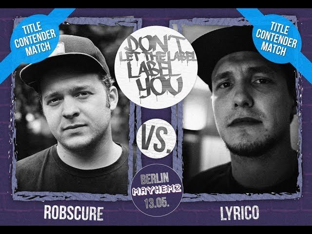 DLTLLY // Rap Battles // Lyrico VS Robscure (Title-Contender Match)
